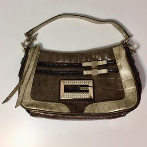 Guess Faux Snakeskin Embellished Purse